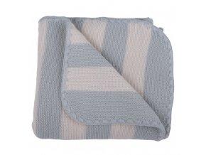 Popolini Proužkovaná deka z merinovlny 90 x 90 cm