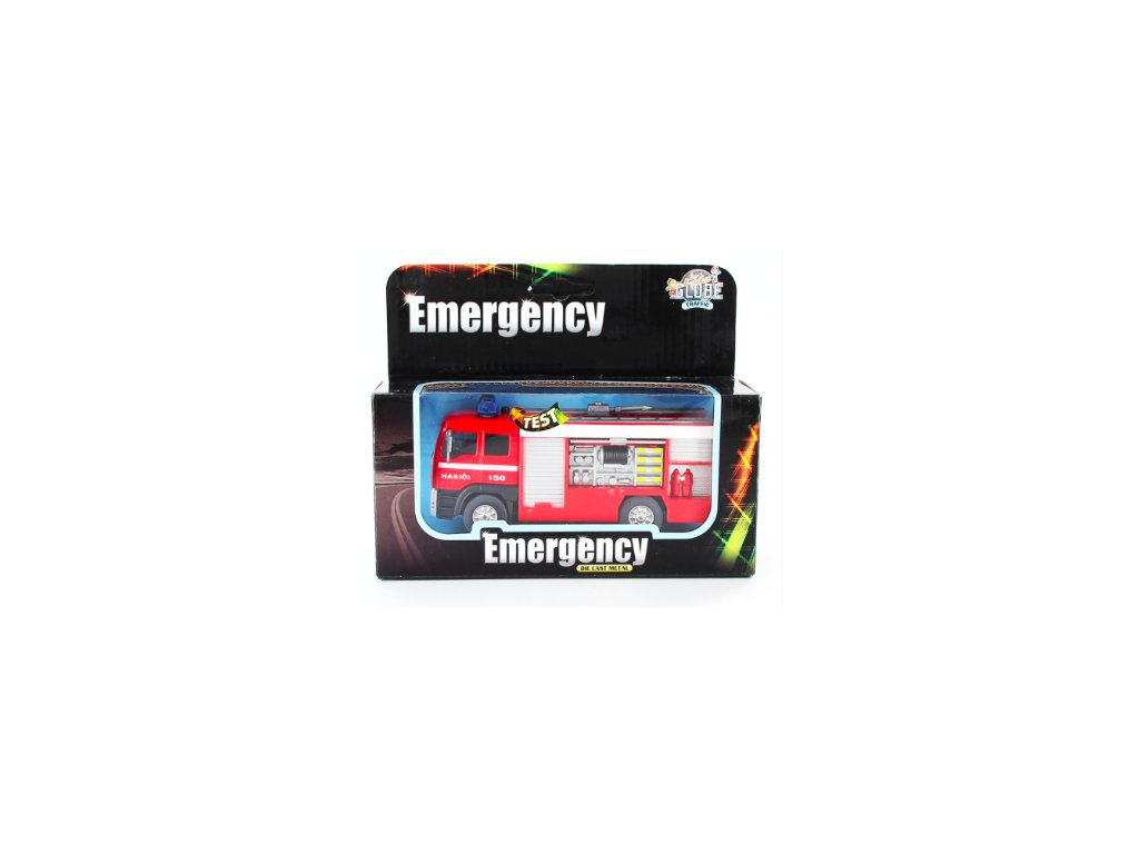 Kovové hasičské auto na baterie (HR2.4)