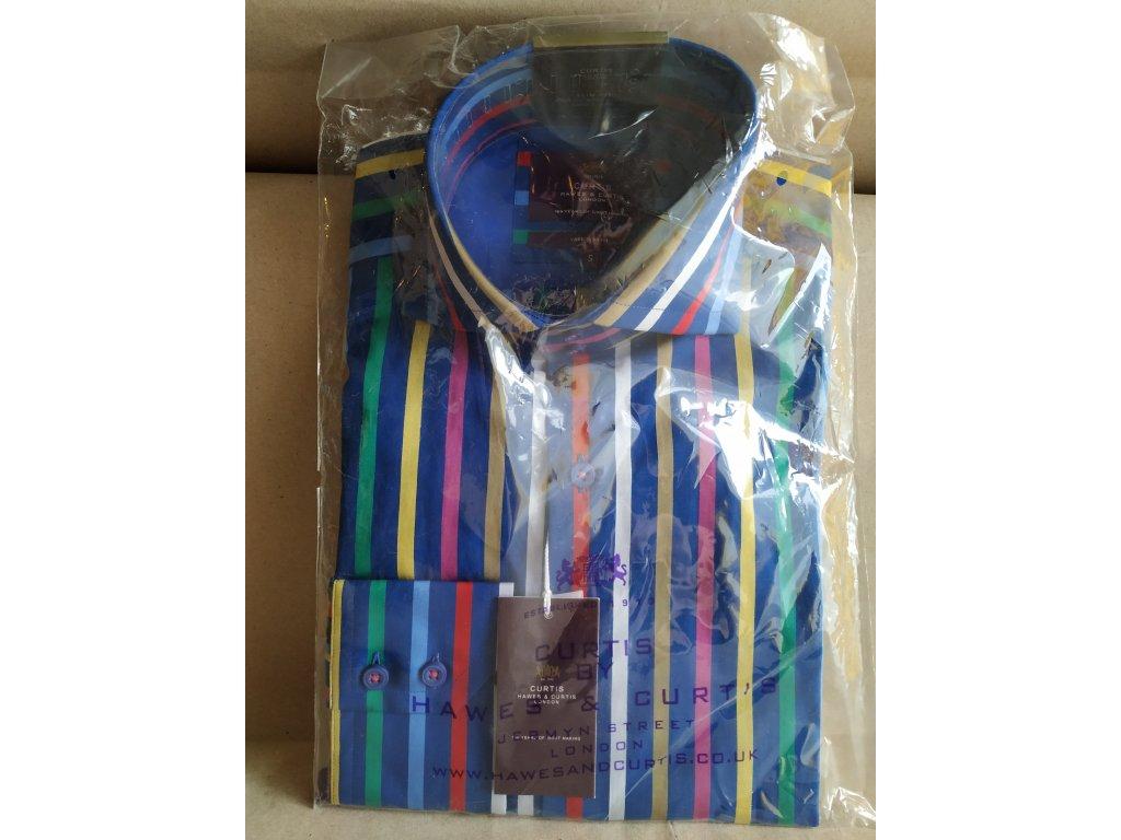 Modro-barevně proužkovaná košile Hawes & Curtis S,M,L,XL