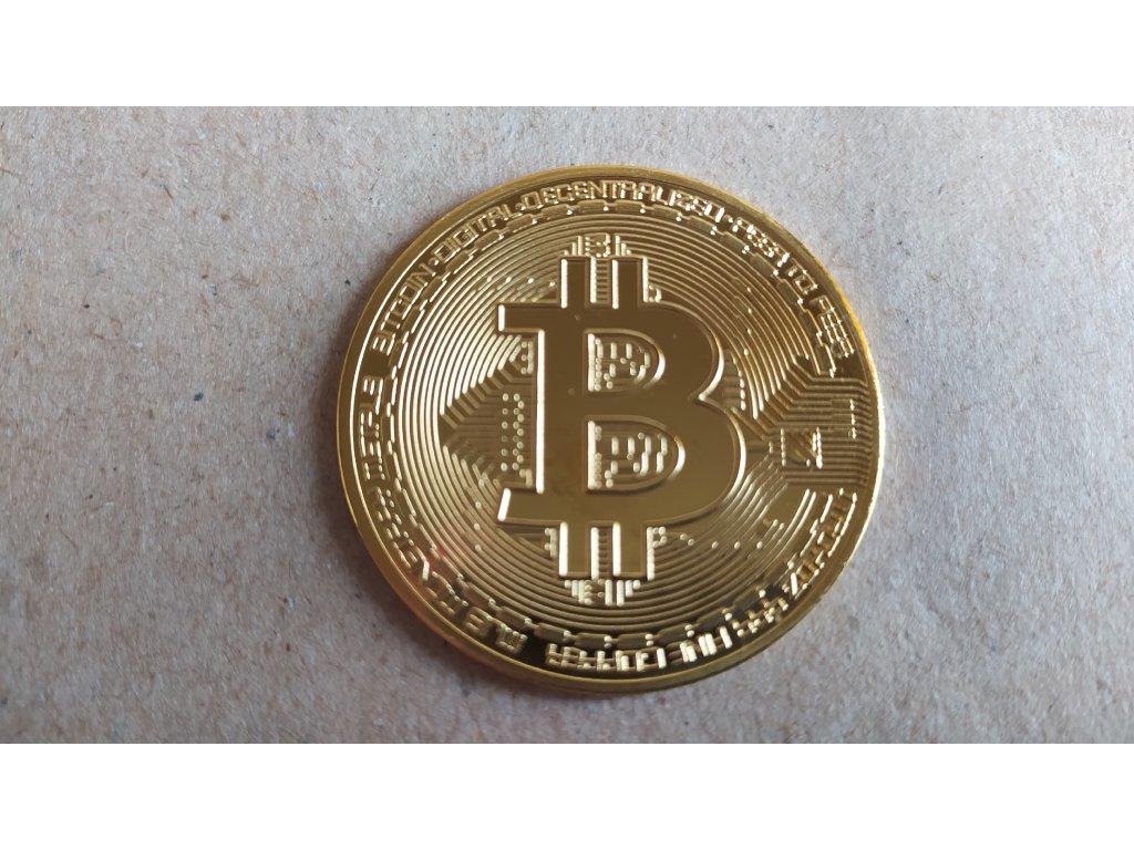 Kovová mince Bitcoin