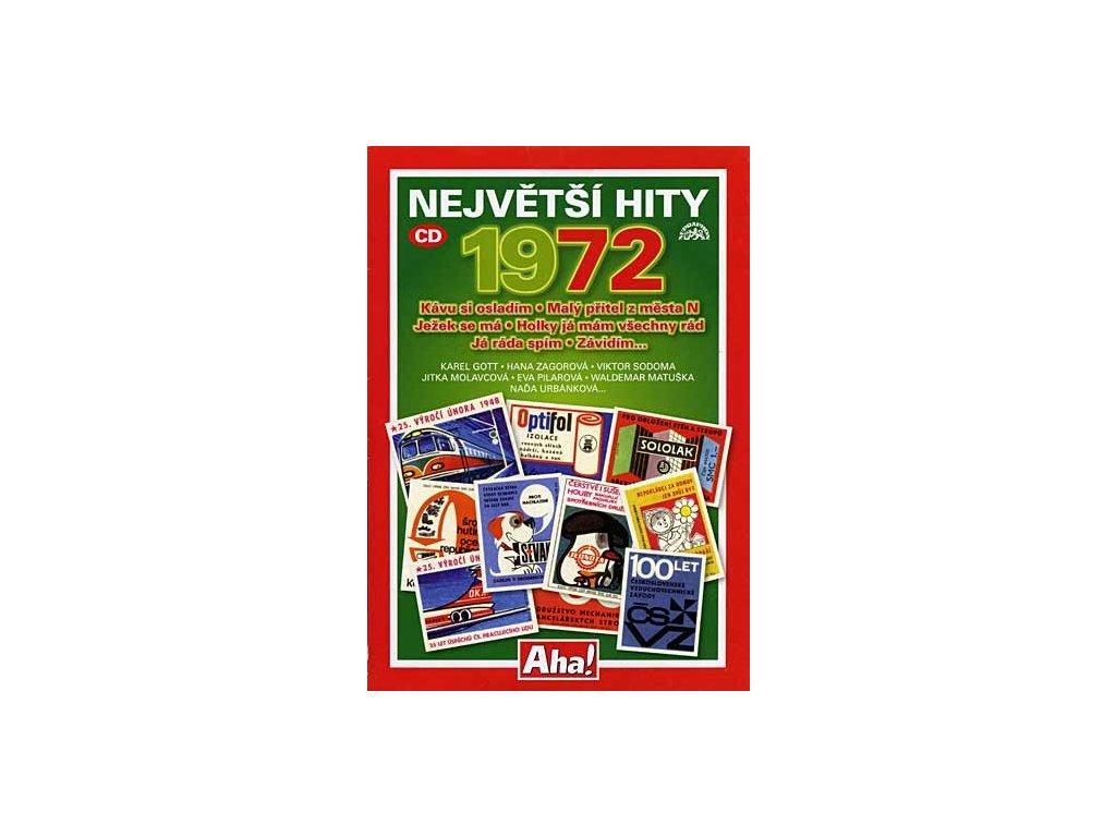 Různí - Největší hity 1972, CD pošetka