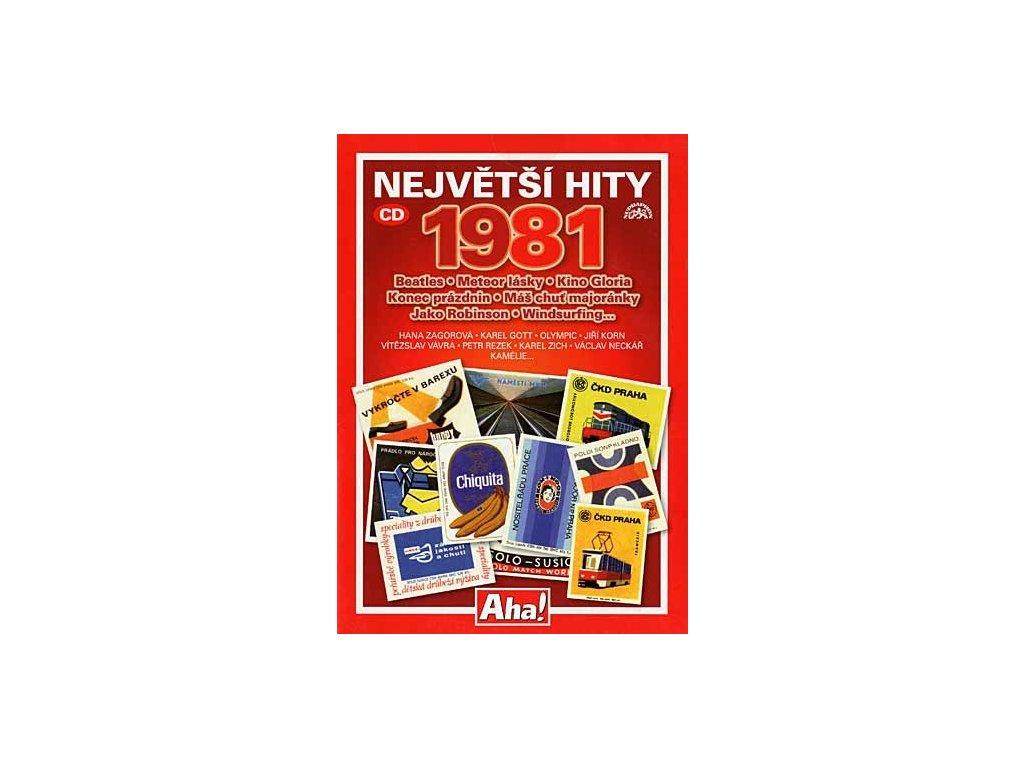 Různí - Největší hity 1981, CD pošetka