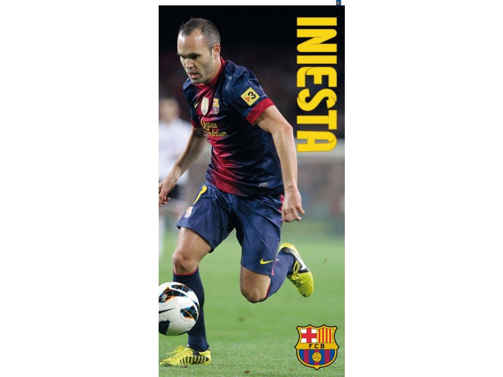 a00173c6a7d90 Klubová froté osuška FC Barcelona Iniesta - Obchodnawebu