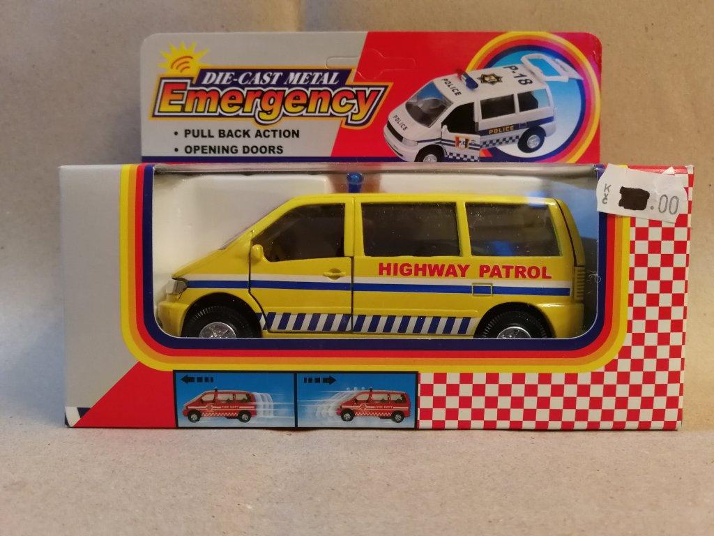 Emergency dálniční hlídka auto kovové 12 cm  (HR2.4)