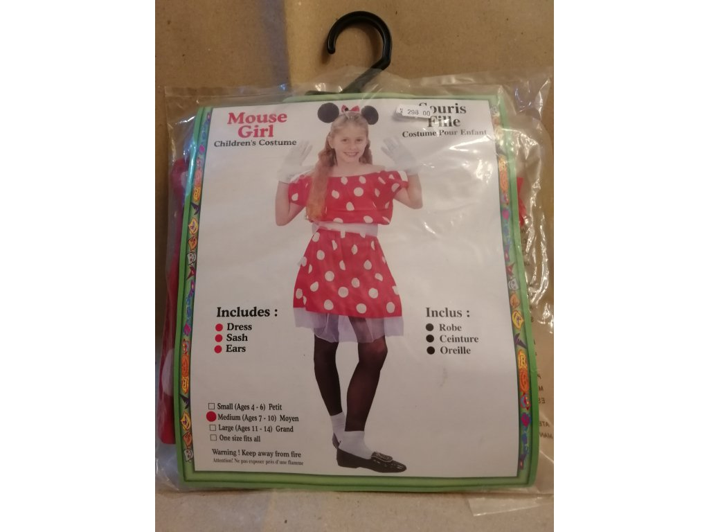 Kostým Mouse girl 7-10let (HR2.5)