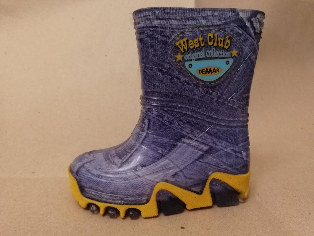 5be229d18c2 Dětské barevné holínky STORMIC Jeans DEMAR 20 21 - Obchodnawebu