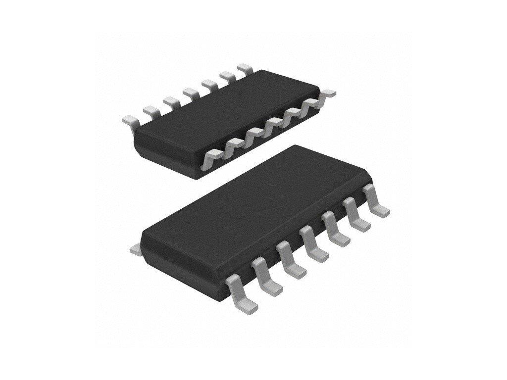 50ks Integrovaný obvod 74HCT04D, Logický IC Hex Inverter TP SO-14 (156110033)