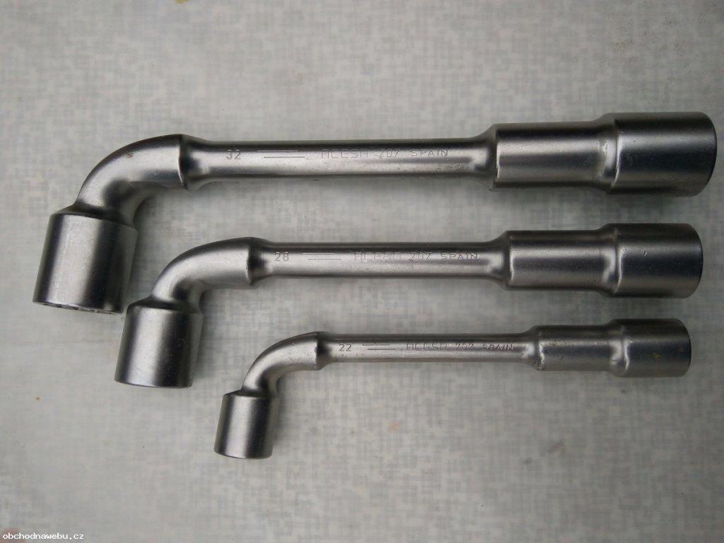 BAHCO - Trubkový dvouhlavý nástrčný zahnutý klíč 19