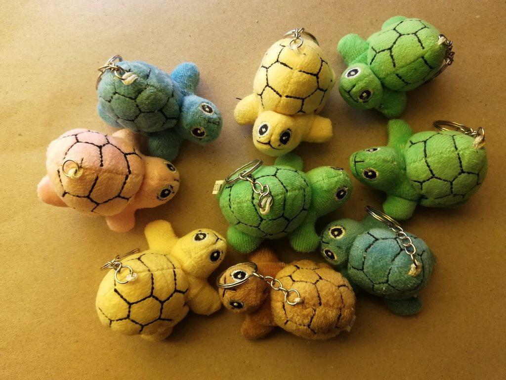 9ks přívěsek želva malá