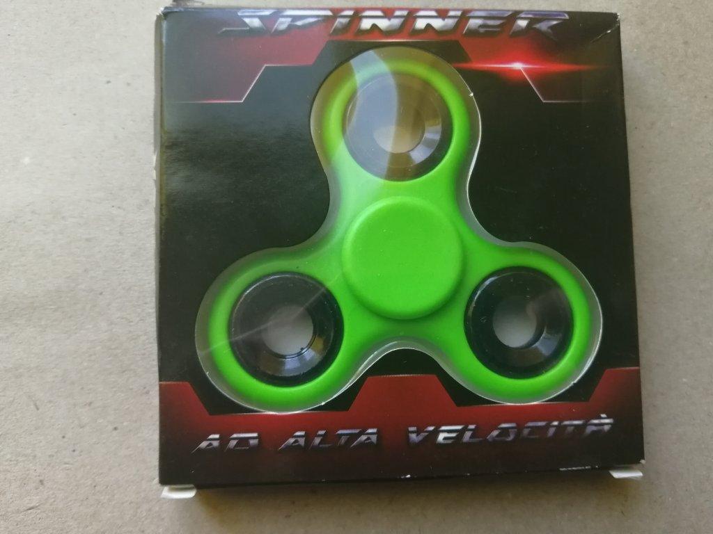 Fidget Spinner kovový zelený