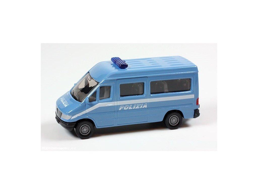 Policejní dodávka Mercedes Sprinter 1:55 (SIKU)