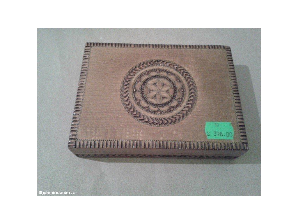 Krabička na karty - dřevo