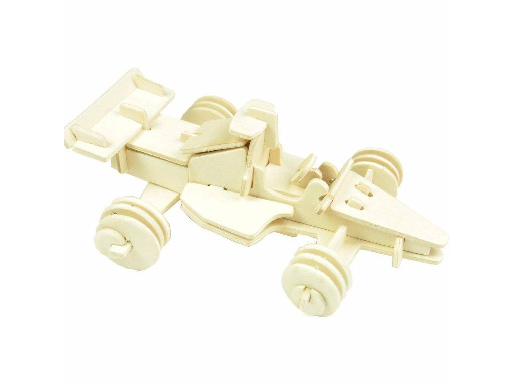 Dřevěné 3D Puzzle Auta - formule