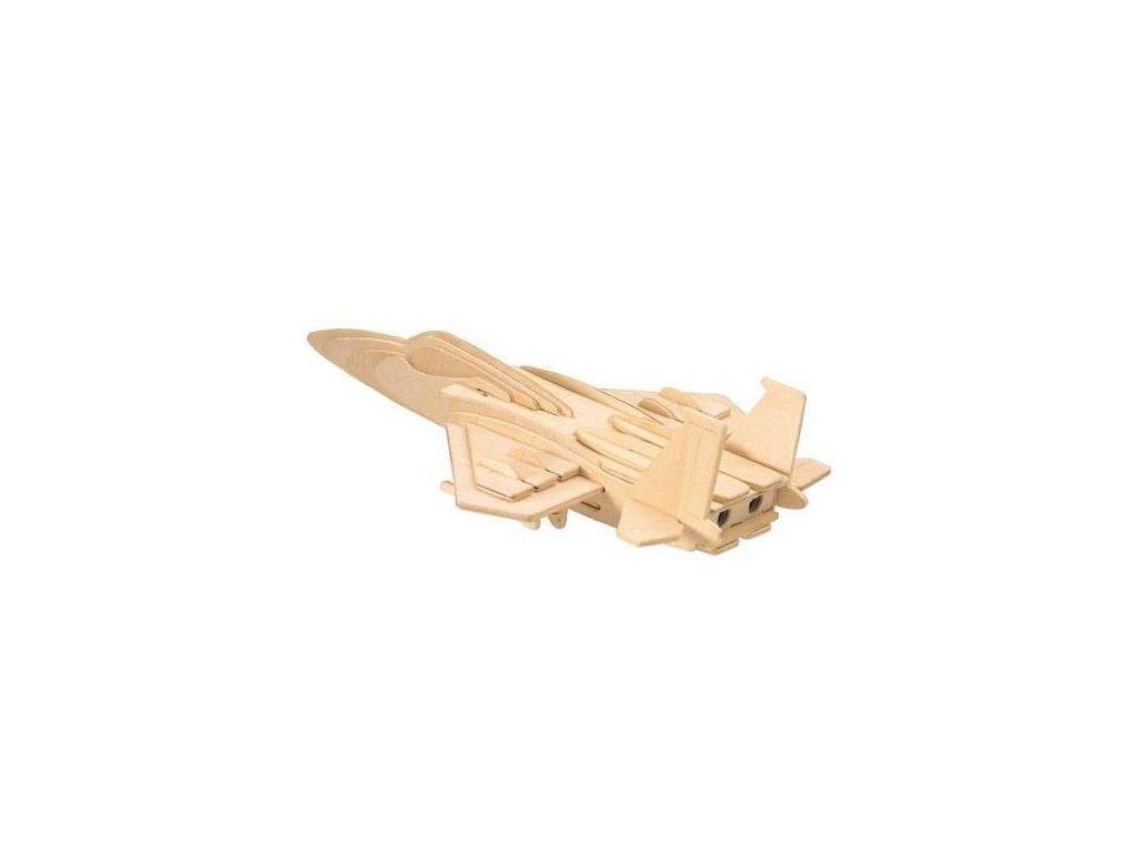 Dřevěné 3D Puzzle Letadla