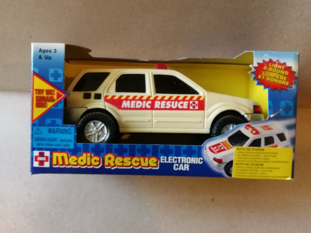Záchranáři auto kovové 18 cm se zvukem (HR2.4)