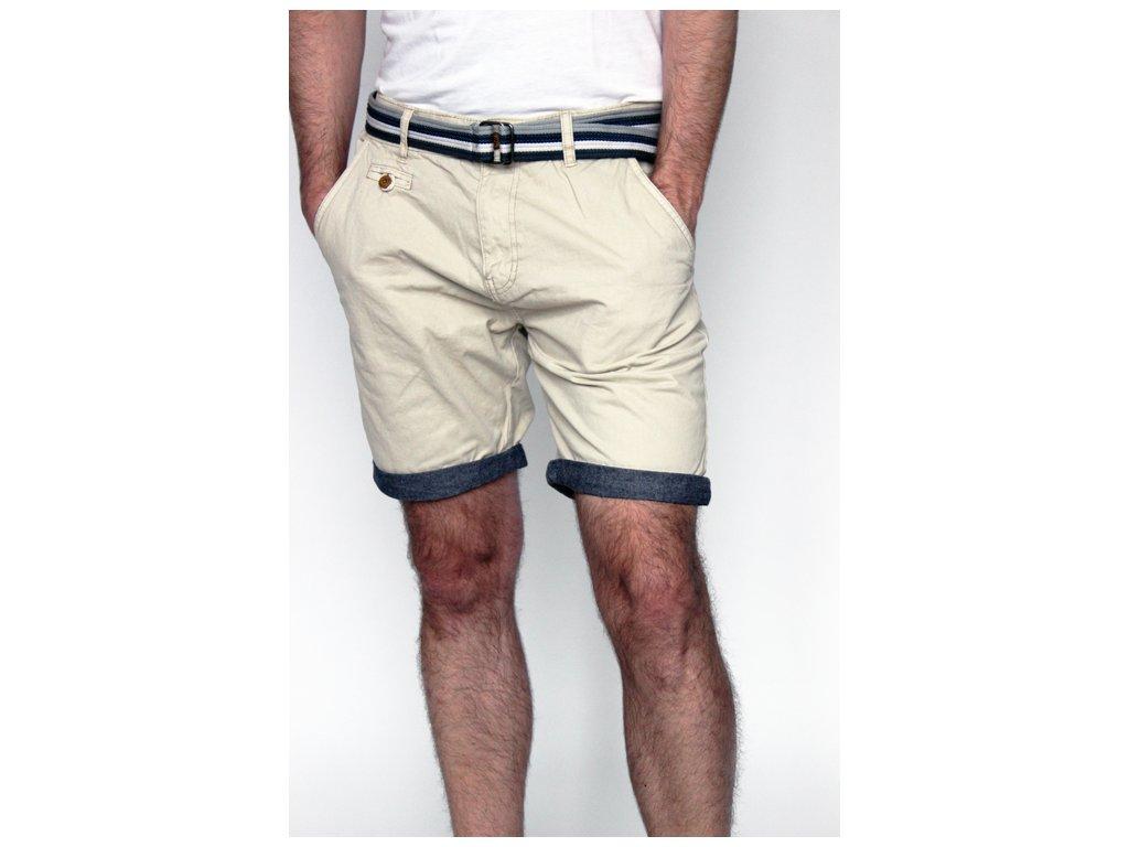 Béžové pánské kraťasy s páskem Indicode Jeans S,M,L,XL,XXL