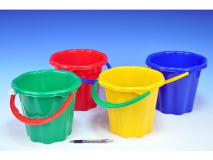 teddies vedierko na piesok plast 19cm 4 farby od 12 mesiacov 140514