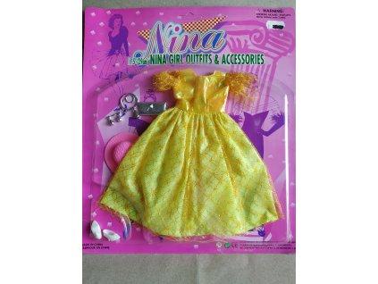 Šaty se střevíčky na panenky Barbie a podobné (HR2.13)