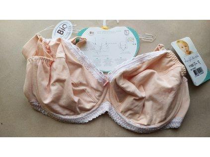 Dámská mateřská / kojící podprsenka BIO bavlna, oranžová