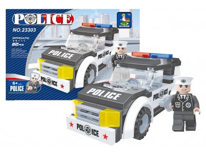 STAVEBNICE AUSINI POLICEJNÍ AUTO, 82 DÍLŮ