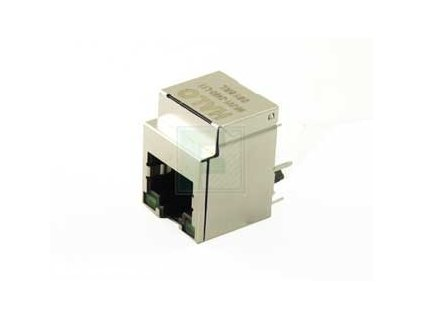 HFJV1 2450 L11R, FastJack Single Port RJ45 Straight LED GreenGreen (1)