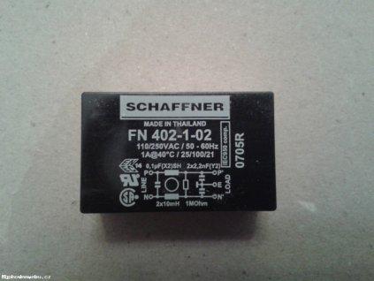 Silnoproudý filtr PCB FN 402-1-02 Schaffner