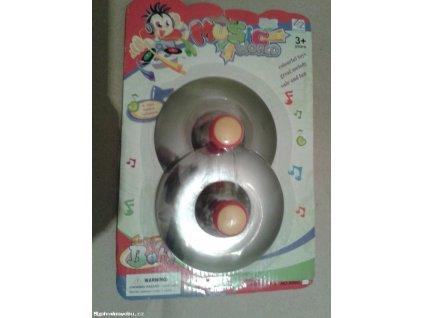 Činely dětské kovové 2 ks průměr 12cm