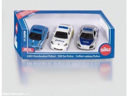 Dárková sada 3 policejní auta 1:87 (SIKU)