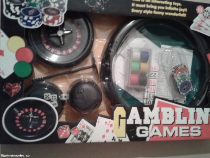 Hazard stolní hry - ruleta, kostky,...