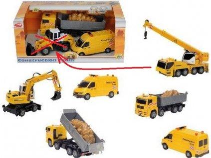 Set stavební auta 3 ks (Dickie Toys)
