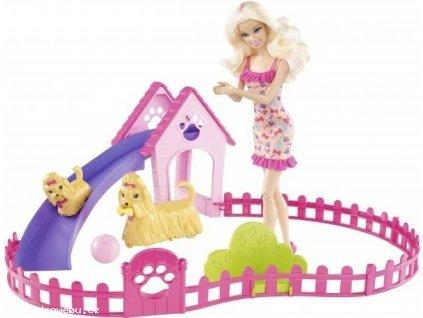 Barbie a štěňátka (Mattel)