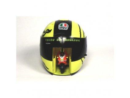 Valentino Rossi Model Ducati Corse + Vystřelovací helma (Mondo)