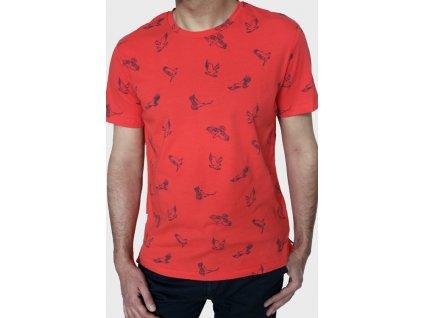 Červené pánské vzorované triko Khujo S,M,L