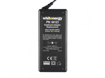 whitenergy ac adapter 16v 375a 60w plug 65x44mm pin