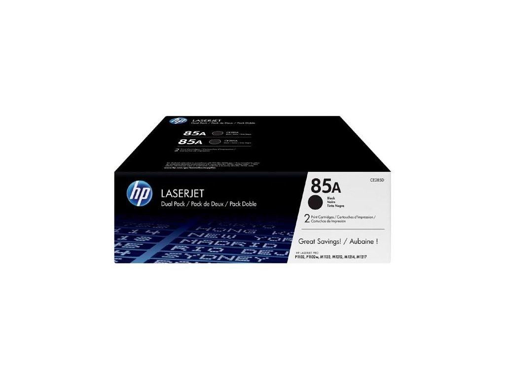 HP CE285AD, černý (HP 85A) - originální toner (Dvojbalení)