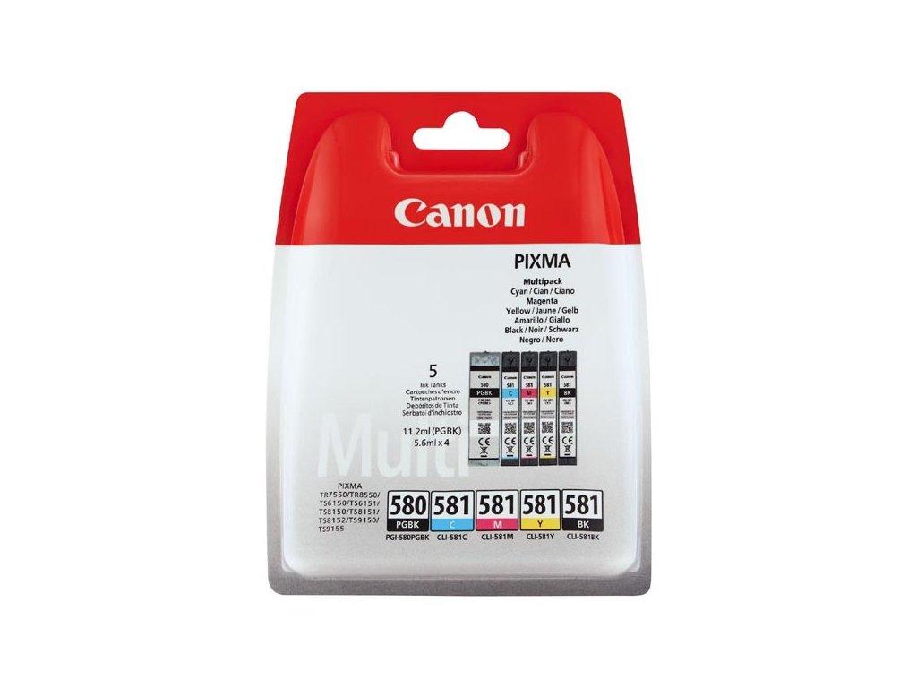 Náplně do tiskárny Canon PGI-580PGBK + CLI-581C/M/Y/BK, Multi pack (2078C005) - originální kazety