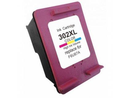 HP F6U67AE, barevná (HP 302 XL) - kompatibilní