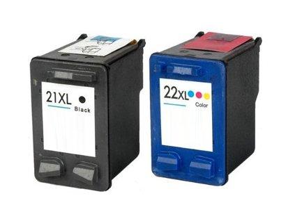 HP C9351CE + HP C9352CE, černá + barevná (HP 21 XL + HP 22 XL) - kompatibilní
