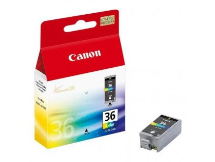 Náplň do tiskárny Canon CLI-36, Barevná (1511B001) - originální kazeta