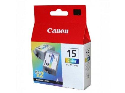 Náplň do tiskárny Canon BCI-15C, Azurová, 2 ks (8191A002) - originální kazeta