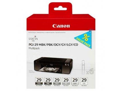 Náplně do tiskárny Canon PGI-29 MBK/PBK/DGY/GY/LGY/CO Multi pack (4868B018) - originální kazety