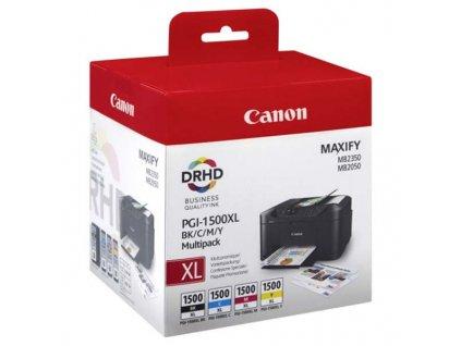 Náplně do tiskárny Canon PGI-1500XL BK/C/M/Y, Multi Pack (9182B004) - originální kazety