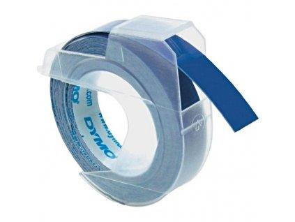 Dymo 3D S0898140, 9mm, bílý tisk/modrý podklad - 10ks, originální páska