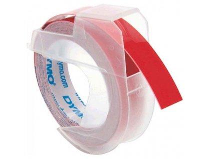 Dymo 3D S0898150, 9mm, bílý tisk/červený podklad - 10ks, originální páska