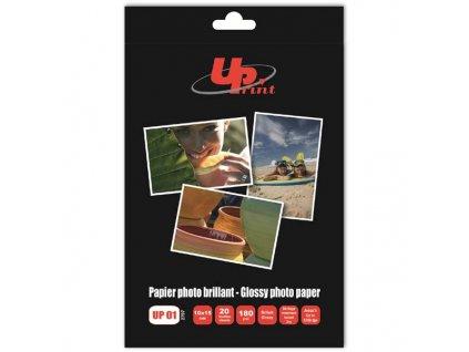 6186 uprint glossy photopaper foto papir leskly bily 10x15cm 4x6 180 g m2 20 ks inkoustovy