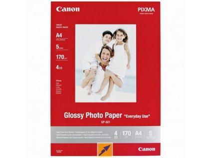 6299 canon glossy photo paper foto papir leskly gp 501 bily 21x29 7cm a4 200 g m2 5 ks 0775b076 inkoustovy