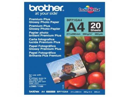 6335 brother glossy photo paper foto papir leskly bily a4 260 g m2 20 ks bp71ga4 inkoustovy