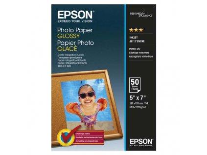6356 epson glossy photo paper foto papir leskly bily 13x18cm 200 g m2 50 ks c13s042545 inkoustovy