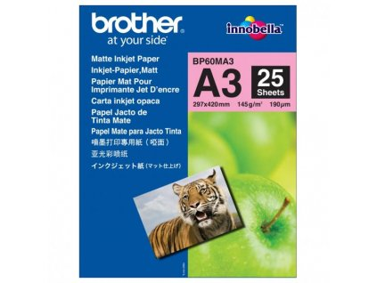 6359 brother photo matt paper foto papir matny bily a3 145 g m2 25 ks bp60ma3 inkoustovy