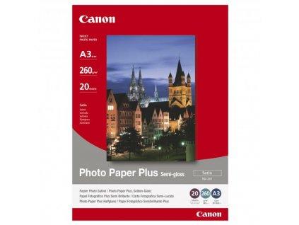 6368 canon photo paper plus semi glossy foto papir pololeskly satenovy bily a3 260 g m2 20 ks sg 201 a3 inkoustovy